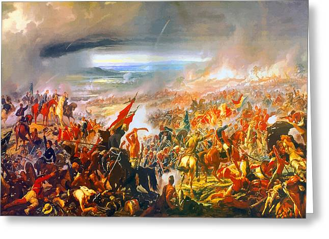 Label Greeting Cards - Battle of Avai 1868 - Oil on canvas Greeting Card by Don Kuing