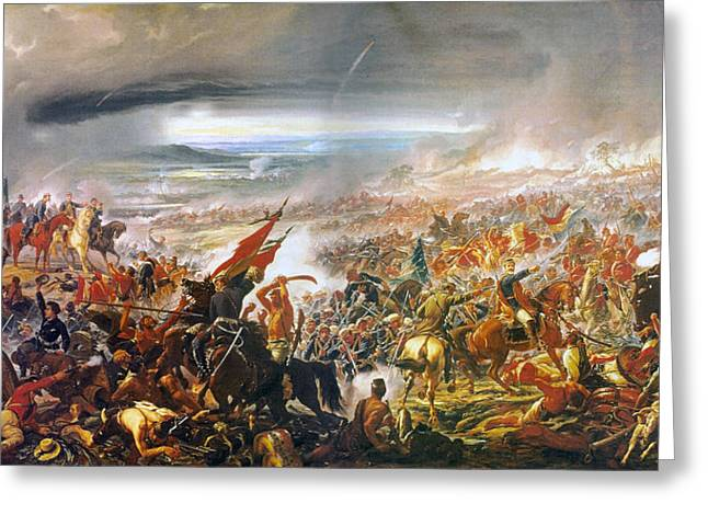 """battle Field"" Greeting Cards - Battle of Avay Greeting Card by Pedro Americo"