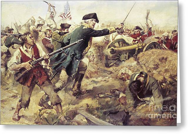 Canon Rebel Greeting Cards - Battle of Bennington Greeting Card by Frederick Coffay Yohn