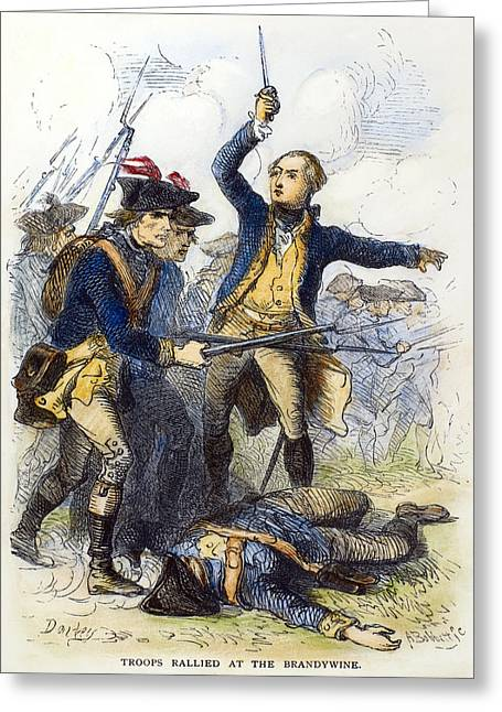Bayonet Greeting Cards - Battle Of Brandywine, 1777 Greeting Card by Granger