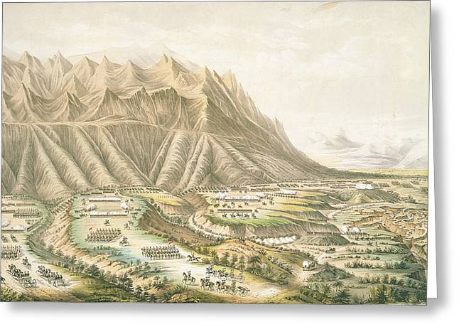 Mexican American Greeting Cards - Battle Of Buena Vista, View Of The Battle Ground And Battle Of The Angostura Fought Near Buena Greeting Card by T. Palmer