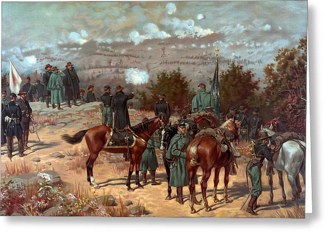 Battle Greeting Cards - Battle of Chattanooga Greeting Card by American School