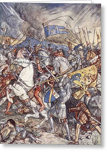 Knighting Drawings Greeting Cards - Battle Of Fornovo, Illustration Greeting Card by Herbert Cole