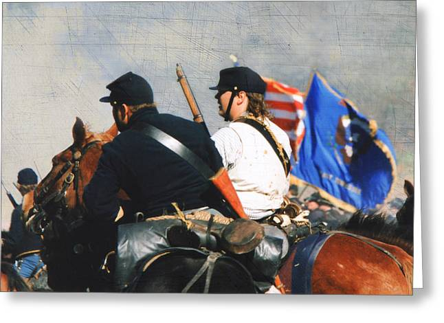 Battle Of Franklin Greeting Cards - Battle of Franklin - 2 Greeting Card by Kae Cheatham