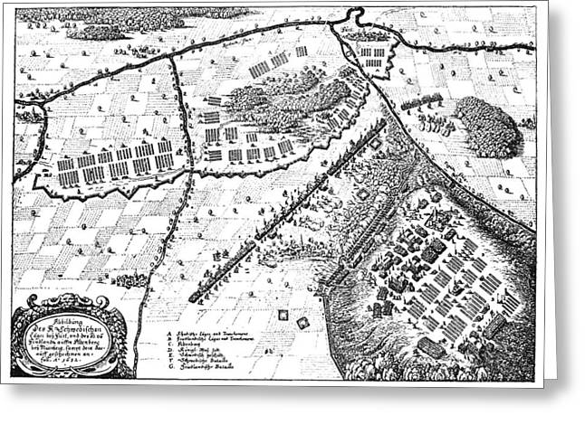 German Map Greeting Cards - Battle Of Furth, 1632 Greeting Card by Granger