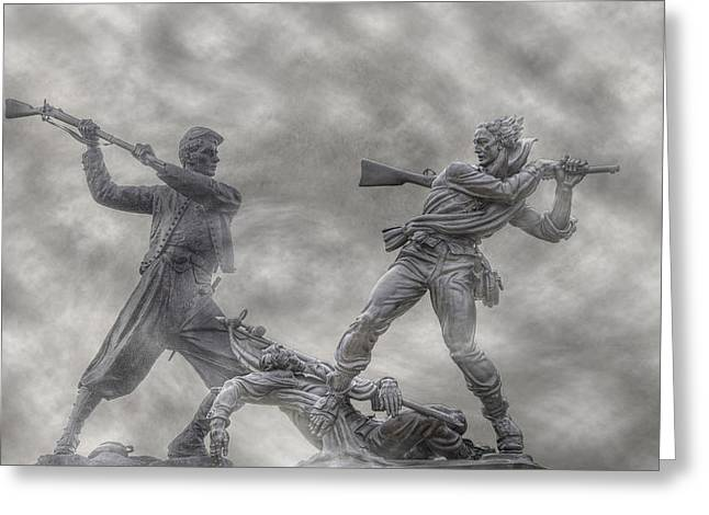 Statue Of Confederate Soldier Greeting Cards - Battle of Gettysburg 150 Blue and the Gray Greeting Card by Randy Steele