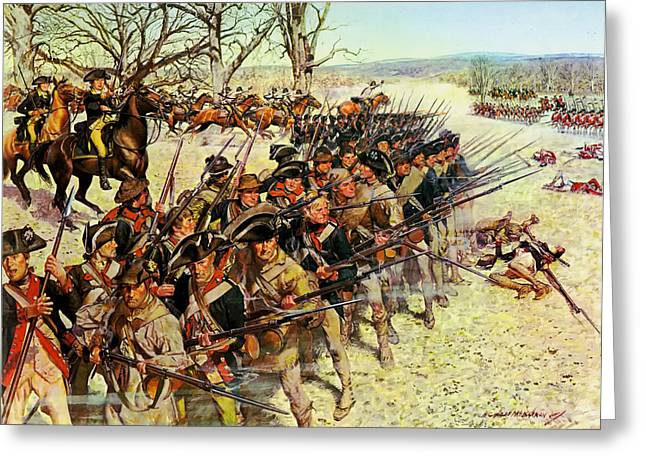 Redcoat Greeting Cards - Battle of Guilford Courthouse 1781 Greeting Card by Mountain Dreams