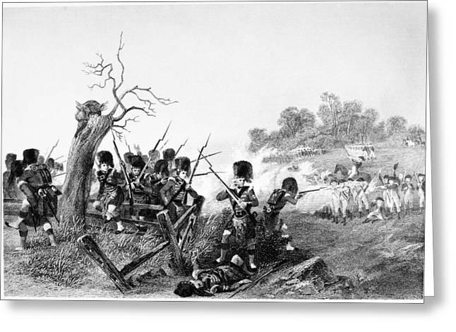 Bayonet Greeting Cards - Battle Of Harlem, 1776 Greeting Card by Granger