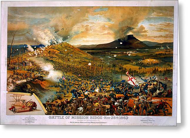 Missionary Greeting Cards - Battle of Missionary Ridge Greeting Card by Celestial Images