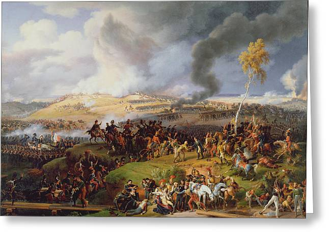 Fighting Greeting Cards - Battle Of Moscow, 7th September 1812, 1822 Oil On Canvas Greeting Card by Louis Lejeune