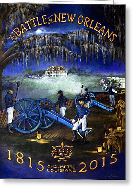 Battle Of New Orleans 200 Year Anniversary Greeting Card by Elaine Hodges