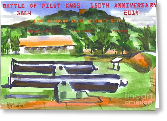 Knob Greeting Cards - Battle of Pilot Knob Greeting Card by Kip DeVore