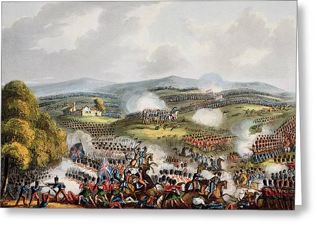 Tricolored Greeting Cards - Battle Of Quatre Bras, June 16th 1815 Greeting Card by William Heath