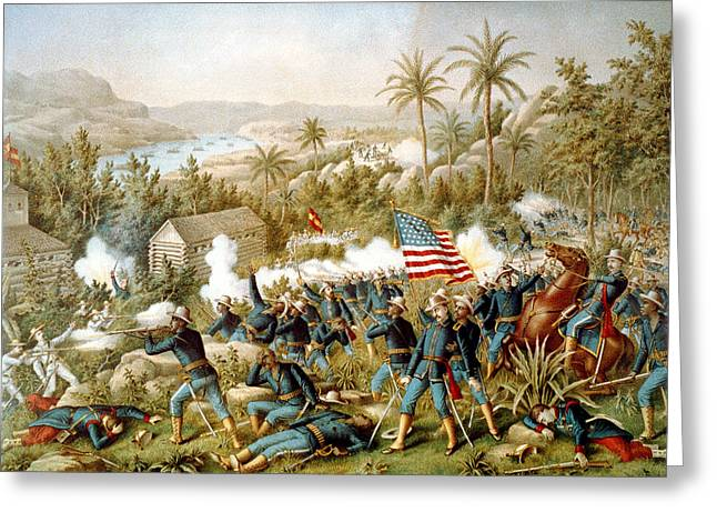 Santiago Cuba Greeting Cards - Battle of Qusimas Greeting Card by Kurz and Allison