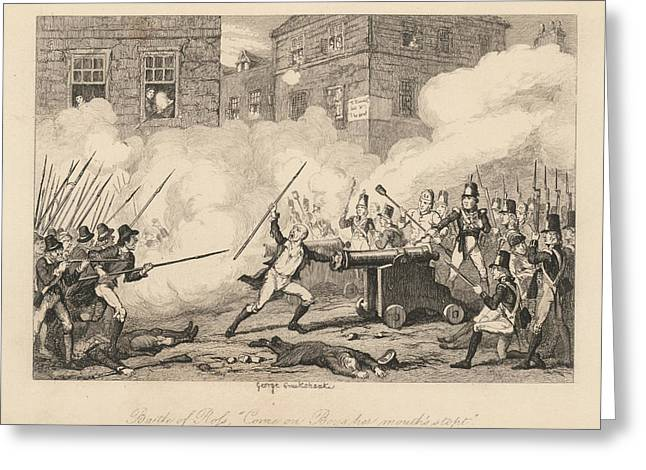Battle Of Ross Greeting Card by British Library
