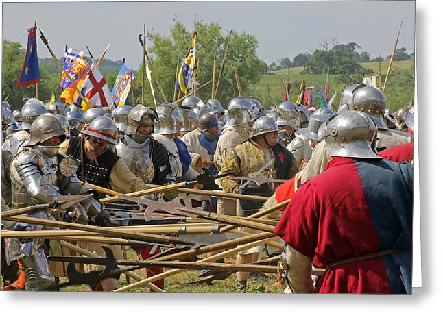 Historical Re-enactments Greeting Cards - Battle of Tewkesbury Greeting Card by Tony Murtagh