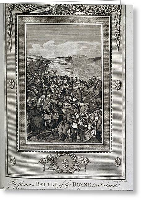 King James Greeting Cards - Battle Of The Boyne Greeting Card by British Library