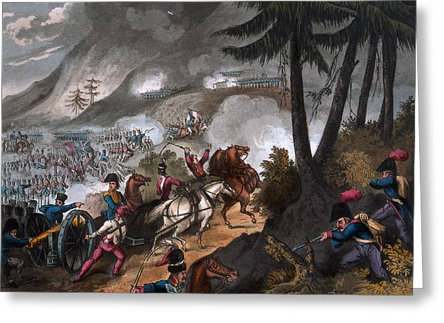 Formation Drawings Greeting Cards - Battle Of The Pyrenees In 1813 Greeting Card by William Heath