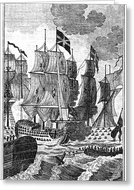 1782 Greeting Cards - Battle Of The Saintes, 1782 Greeting Card by Granger