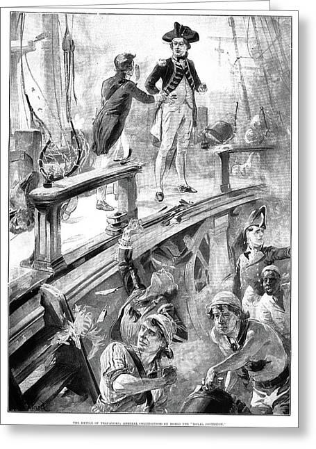 Battle Of Trafalgar, 1896 Greeting Card by Granger