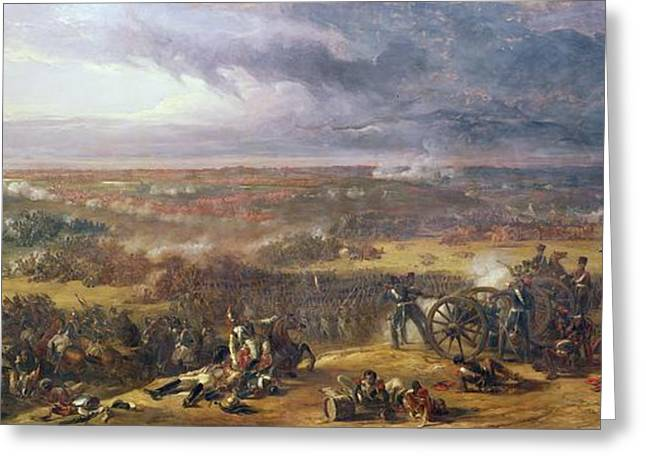 Carnage Greeting Cards - Battle Of Waterloo, 1815, 1843 Greeting Card by Sir William Allan