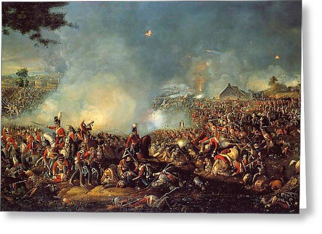 Bravery Greeting Cards - Battle of Waterloo Greeting Card by Celestial Images