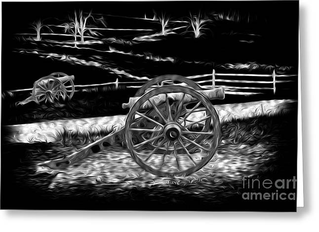 Paint Effect Greeting Cards - Battlefield Cannons Greeting Card by Paul W Faust -  Impressions of Light