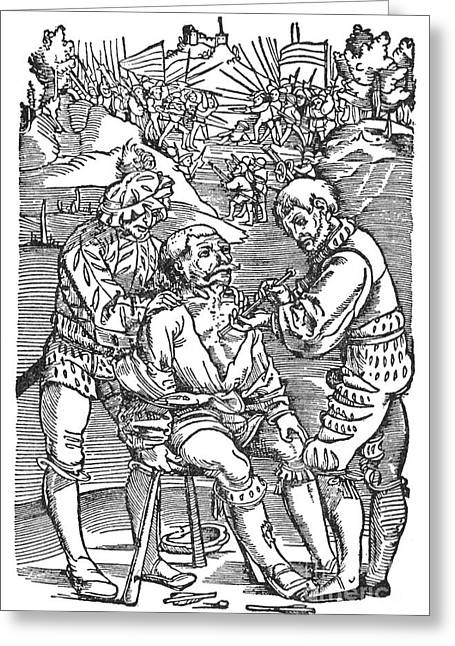 1540 Greeting Cards - Battlefield Surgeon, 1540 Greeting Card by Granger