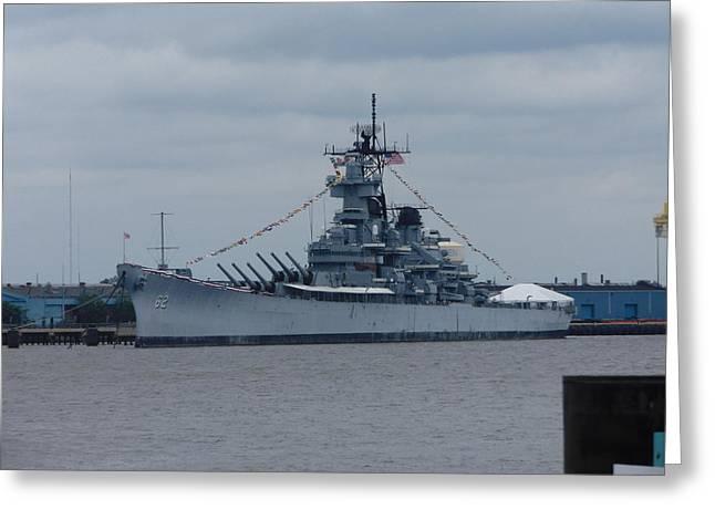 Phot Art Greeting Cards - Battleship NJ Greeting Card by Paul  McGovern