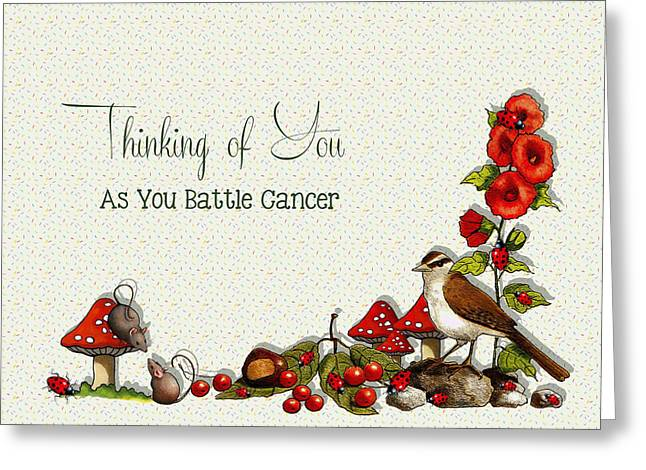 Concern Mixed Media Greeting Cards - Battling Cancer Greeting Card Greeting Card by Joyce Geleynse