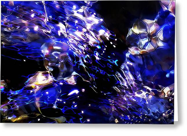 Refracted Light Greeting Cards - Battling Currents Greeting Card by Terril Heilman