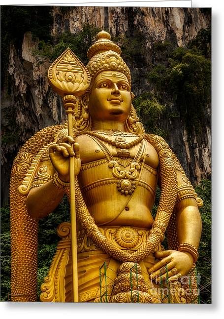 Southeast Asia Greeting Cards - Batu Statue Greeting Card by Adrian Evans