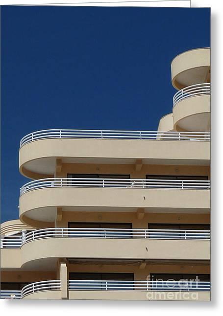 Bauhaus Greeting Cards - Bauhaus Architecture Building Greeting Card by Patrick Dinneen
