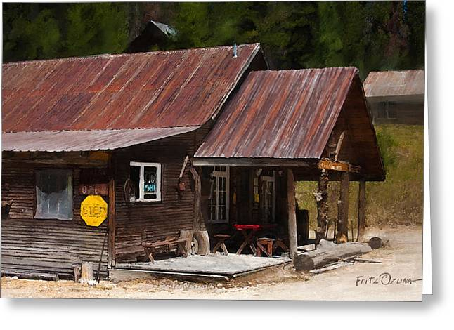Mining Photos Digital Greeting Cards - Baum Shelter Warren ID  Greeting Card by Fritz Ozuna