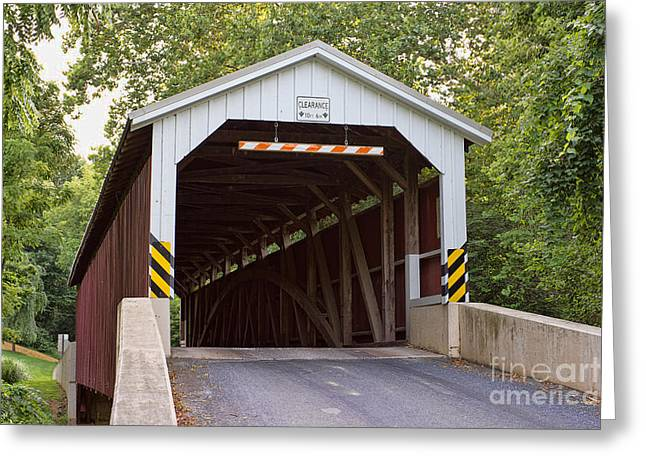 Old Roadway Greeting Cards - Baumgardners Mill Covered Bridge Greeting Card by Terry Weaver