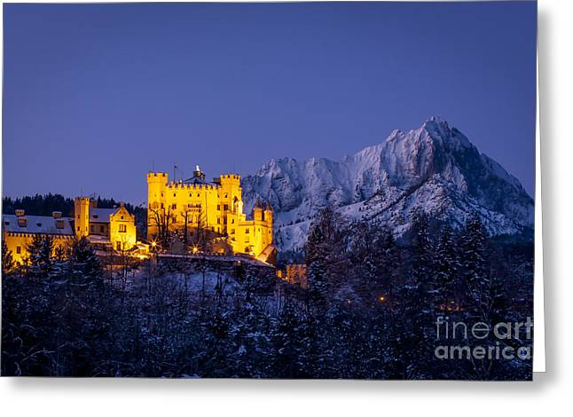 Bavarian Castle Greeting Card by Brian Jannsen