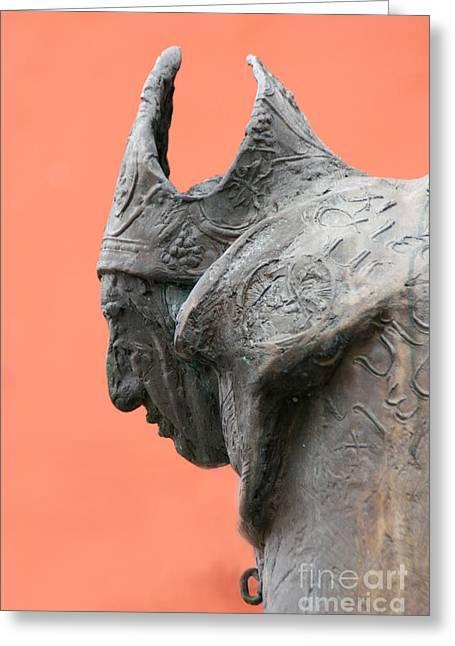 Bavarian Statue Greeting Card by Holly C. Freeman