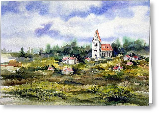 Germany Paintings Greeting Cards - Bavarian Village Greeting Card by Sam Sidders