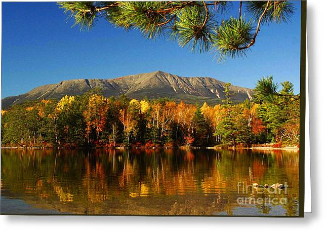 Baxter Fall Reflections  Greeting Card by Alana Ranney