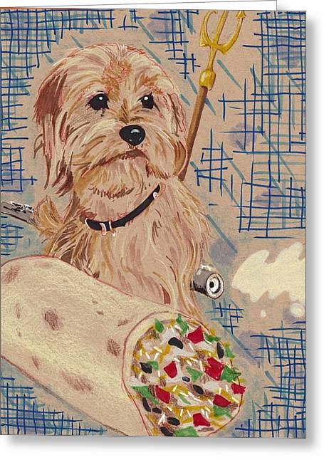 Champ Drawings Greeting Cards - Baxter Greeting Card by Kyle Willis