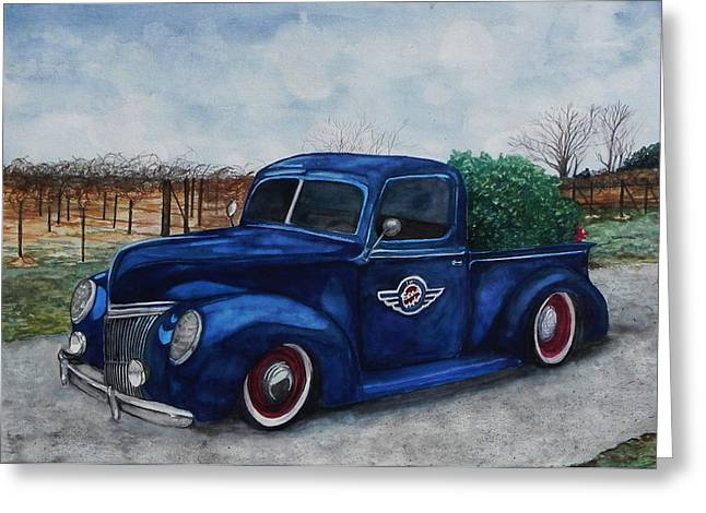 Stacey Pilkington-smith Greeting Cards - Baxter Truck Greeting Card by Stacey Pilkington-Smith
