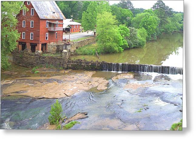 Stream Greeting Cards - Baxters Mill - Square Greeting Card by Gordon Elwell