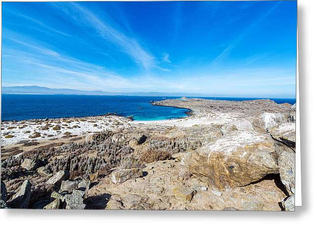 Bay And Blue Water On Damas Island Greeting Card by Jess Kraft