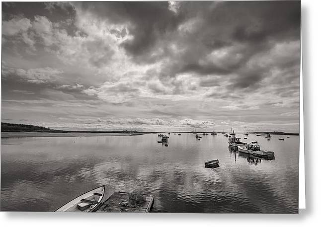 Ocean Black And White Prints Greeting Cards - Bay Area Boats Greeting Card by Jon Glaser