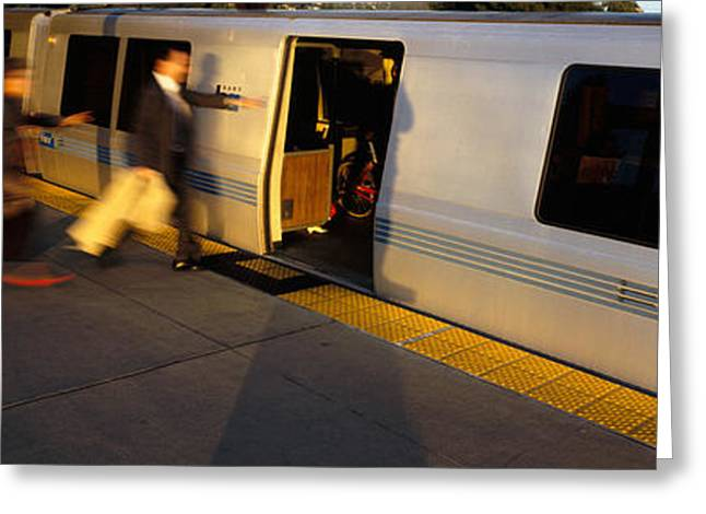 Businessmen Greeting Cards - Bay Area Rapid Transit, Oakland Greeting Card by Panoramic Images