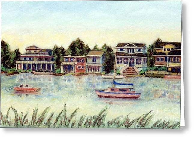 Beach House Pastels Greeting Cards - Bay at Harvey Cedars Long Beach Island New Jersey Greeting Card by Pamela Parsons