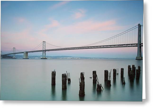 Bay Bridge Greeting Cards - Bay Bridge 2 Greeting Card by Catherine Lau