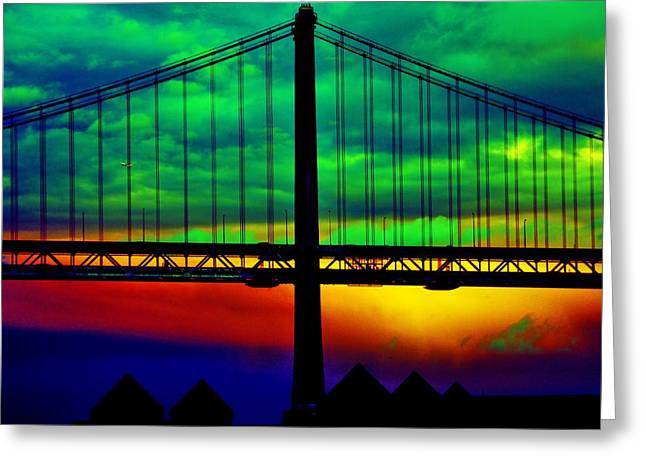 Aidan Moran Photography Greeting Cards - Bay Bridge Abstract Greeting Card by Aidan Moran