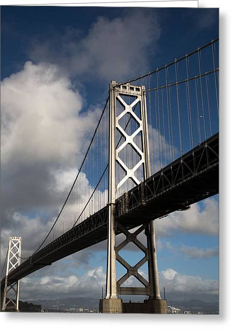 John Daly Greeting Cards - Bay Bridge after the Storm Greeting Card by John Daly