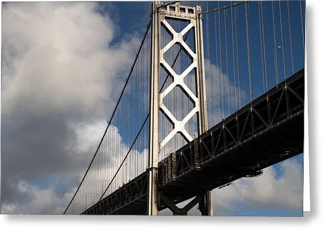 Bay Bridge after the Storm Greeting Card by John Daly